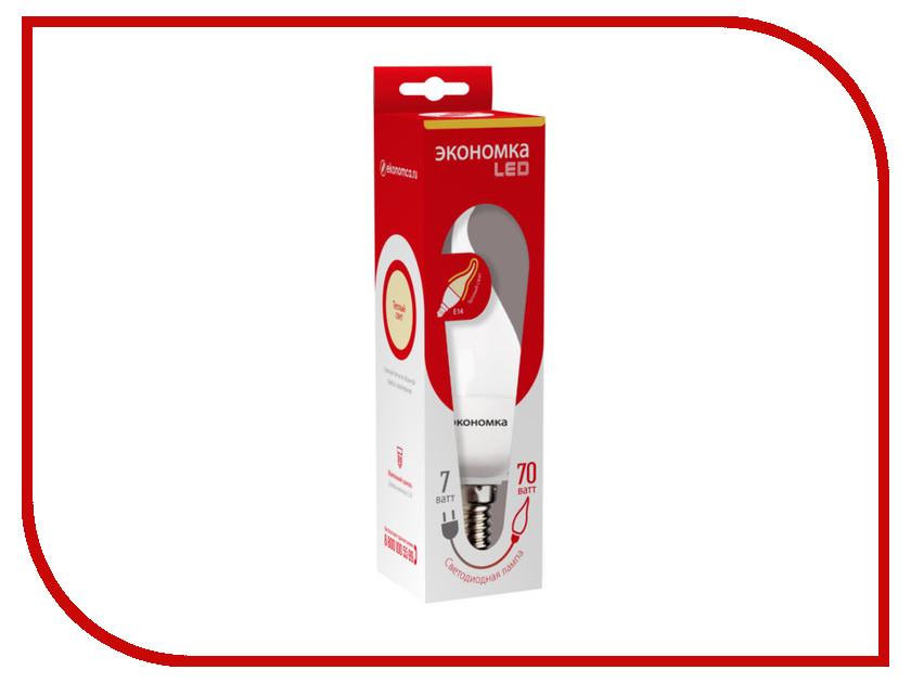 Лампочка Экономка Свеча на ветру 7W E14 230V 3000K Eco_LED7WCWE1430 лампочка экономка свеча 5w e14 230v 4500k eco led5wcne1445