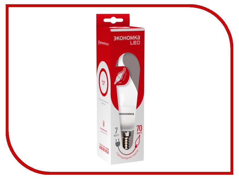 Лампочка Экономка Свеча на ветру 7W E14 230V 4500K Eco_LED7WCWE1445 лампочка экономка шарик gl45 7w e14 230v 4500k eco led7wgl45e1445