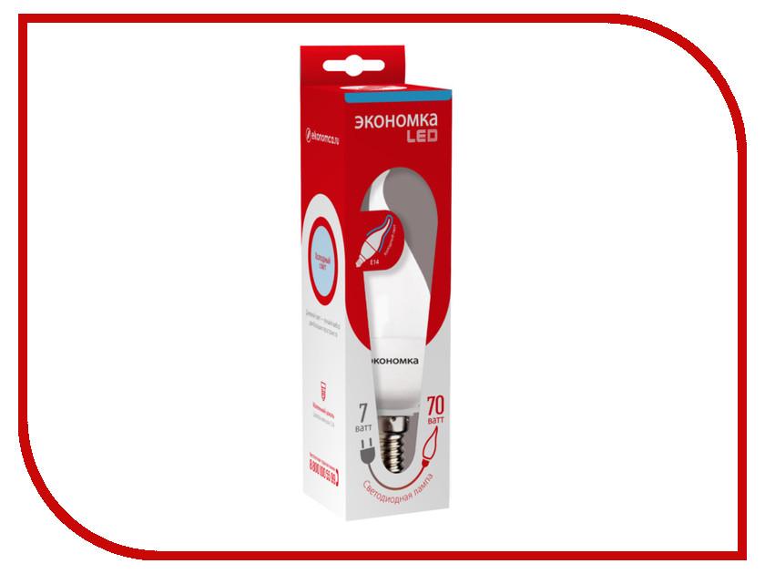 Лампочка Экономка Свеча на ветру 7W E14 230V 6500K Eco_LED7WCWE1465<br>