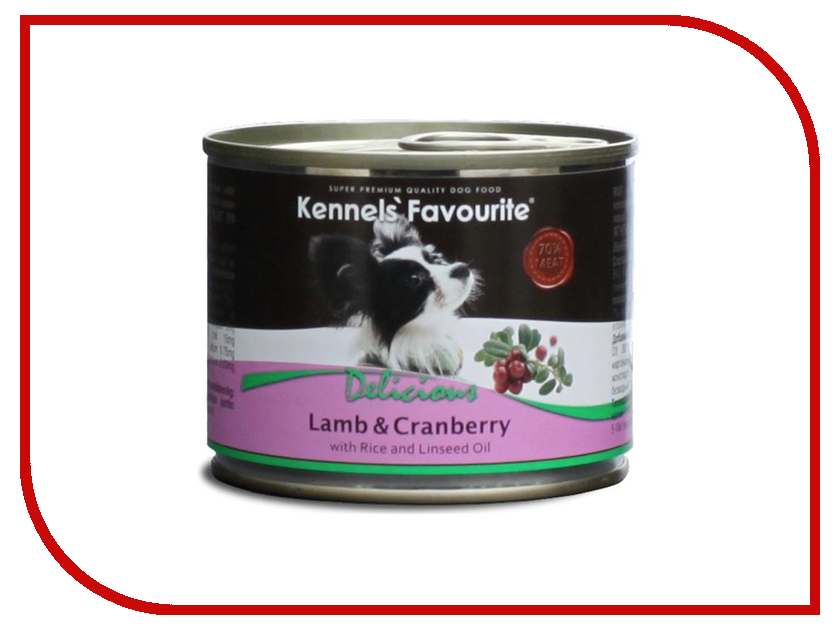 Корм Kennels Favourite Lamb &amp; Cranberry 200g<br>