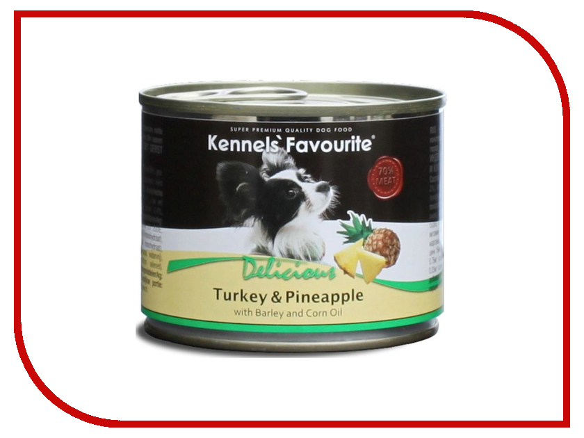 Корм Kennels Favourite Turkey &amp; Pineapple 200g<br>