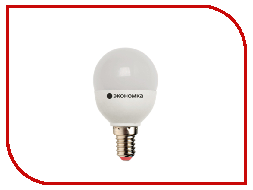 Лампочка Экономка Шарик GL45 7W E14 230V 6500K Eco_LED7WGL45E1465<br>