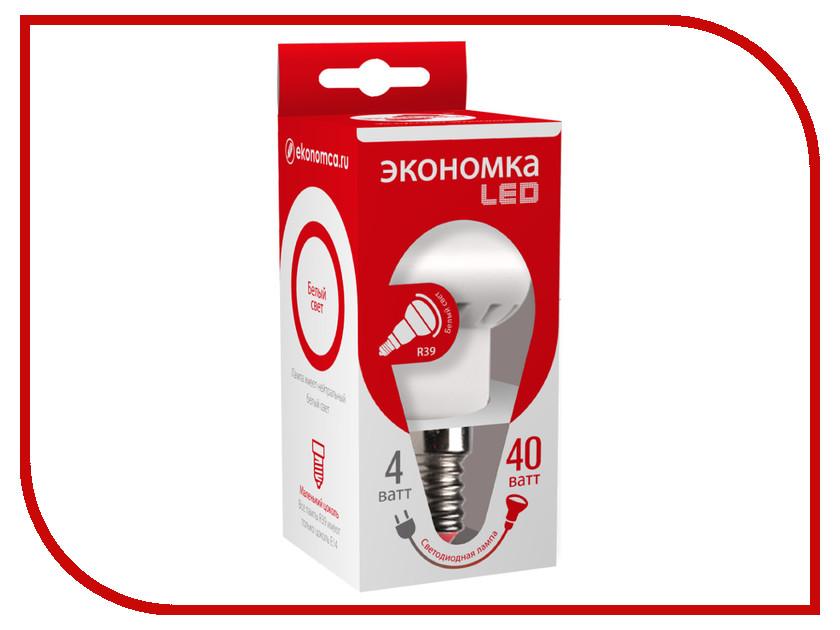 Лампочка Экономка Рефлектор R39 4W E14 230V 4500K Eco_LED4WR39E1445 упаковка ламп 3 шт экономка рефлектор r50 6вт е14 230v 4500k белый свет