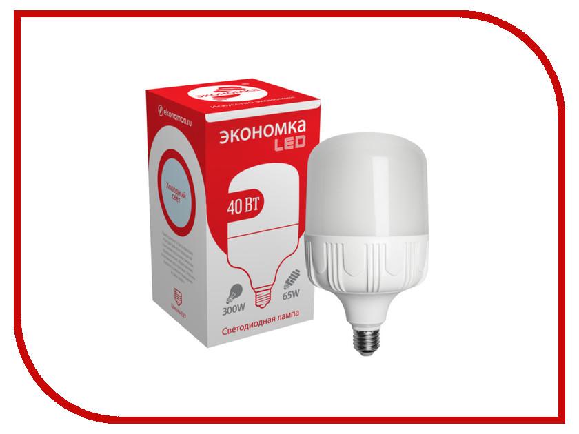 Лампочка Экономка LED 40W E27 6500K Eco40wHWLEDE2765 лампочка экономка a60 14w e27 230v 6500k ecol14wa60230ve2765