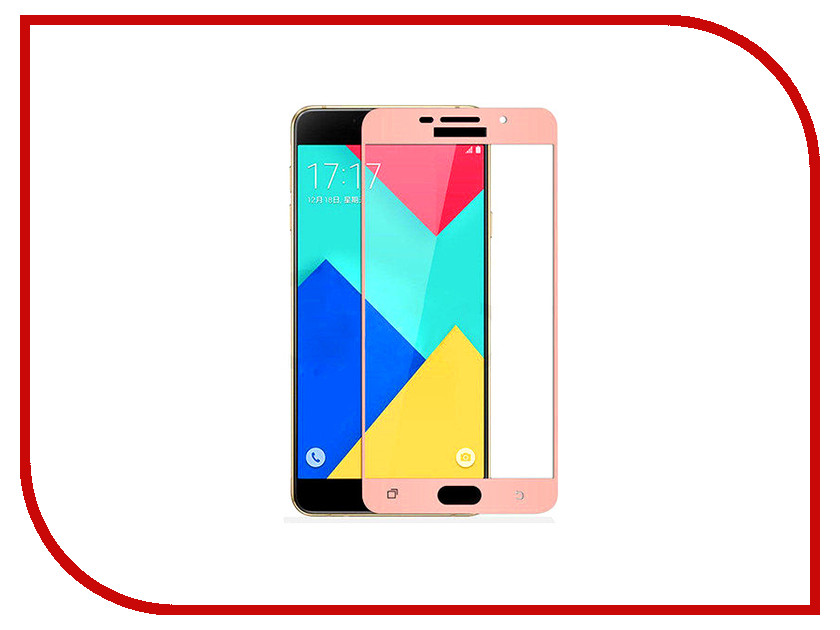 Аксессуар Защитное стекло Samsung Galaxy A3 2016 SM-A310F Solomon Full Cover Pink