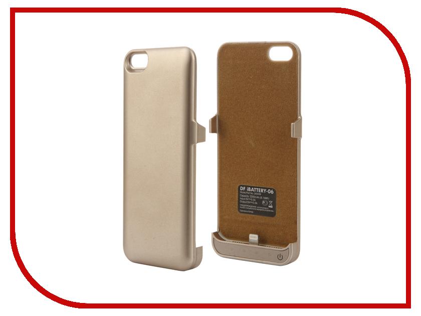 Аксессуар Чехол-аккумулятор DF для iPhone 5 / 5S / SE 2200 mAh iBattery-06 Gold чехол аккумулятор