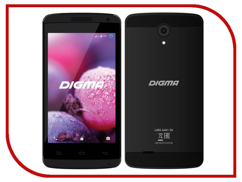Сотовый телефон Digma Linx A401 3G Black сотовый телефон digma linx a400 3g graphite
