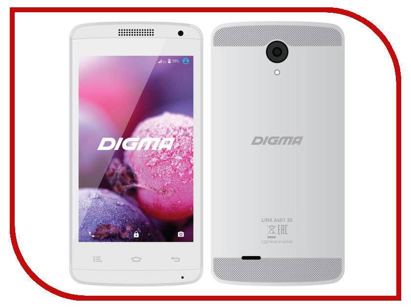 Сотовый телефон Digma Linx A401 3G White digma linx a420 3g 4гб белый dual sim 3g