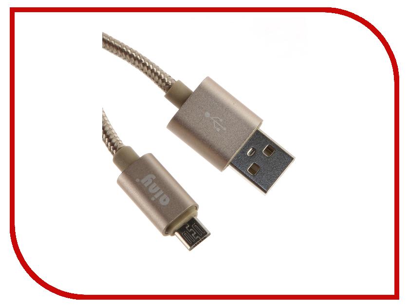 Аксессуар Ainy Micro USB FA-064L Gold аксессуар ainy microusb white fa 068b