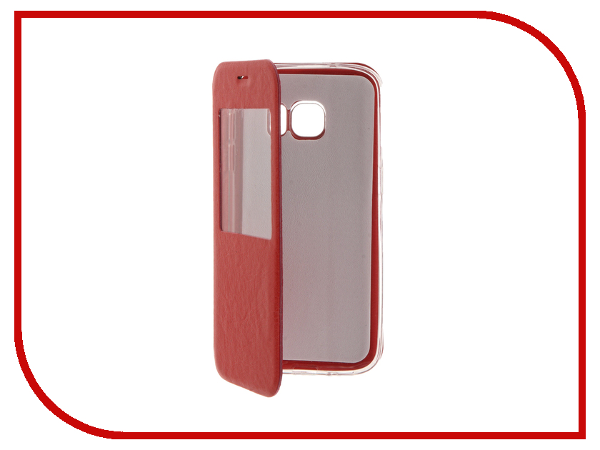 Аксессуар Чехол Samsung Galaxy S7 Cojess Book Case Time Red<br>
