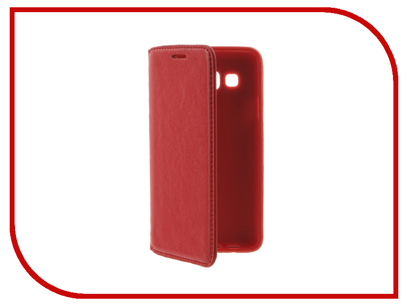 Аксессуар Чехол Samsung Galaxy A3 (2016) Cojess Book Case New Red с визитницей аксессуар чехол samsung galaxy a3 2017 cojess tpu 0 8mm s black mate