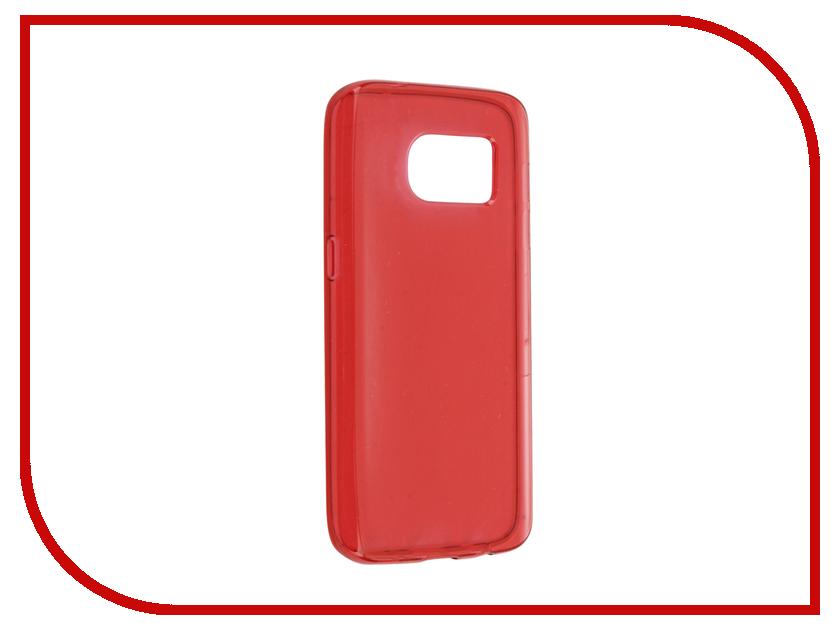 Аксессуар Чехол Samsung Galaxy S7 Cojess Silicone TPU 0.8mm Red глянцевый аксессуар чехол samsung galaxy j3 2017 cojess tpu 0 3mm transparent