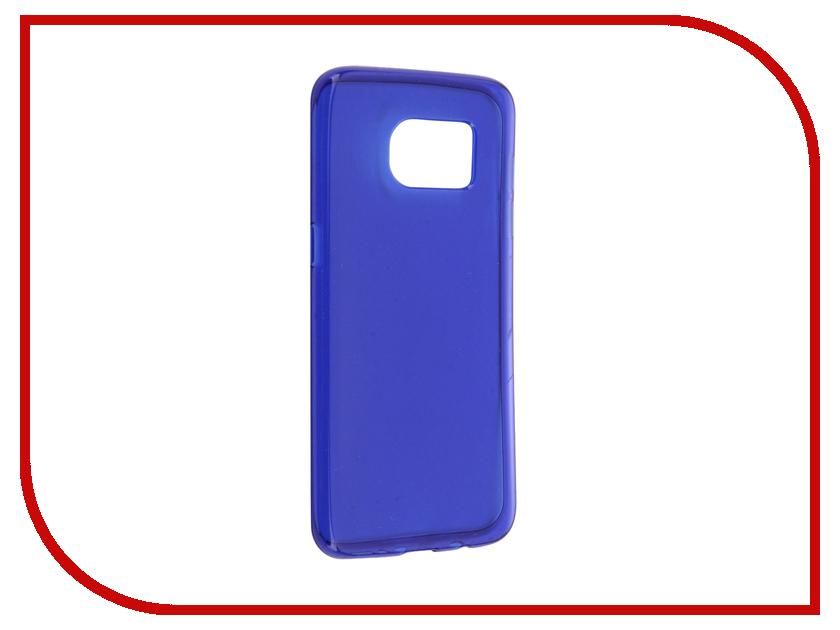 Аксессуар Чехол Samsung Galaxy S7 Edge Cojess Silicone TPU 0.8mm Blue глянцевый<br>