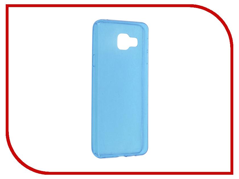 Аксессуар Чехол Samsung Galaxy A3 (2016) Cojess Silicone TPU 0.3mm Light Blue глянцевый<br>