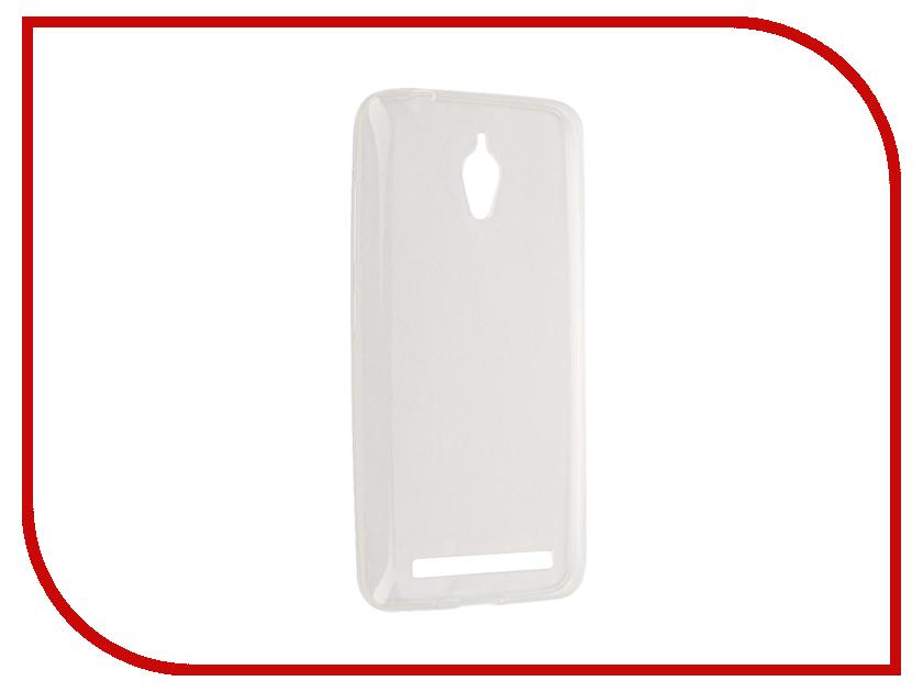 все цены на Аксессуар Чехол ASUS ZenFone Go ZC500TG Cojess Silicone TPU 0.3mm Transparent глянцевый онлайн