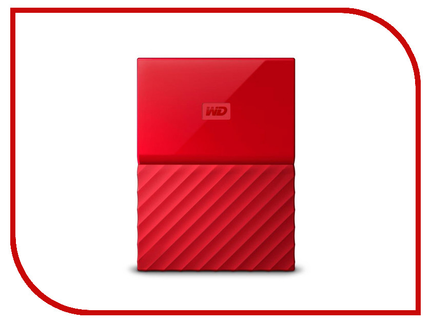 Жесткий диск Western Digital My Passport 2Tb Red WDBUAX0020BRD-EEUE жесткий диск пк western digital wd20ezrz 2tb wd20ezrz