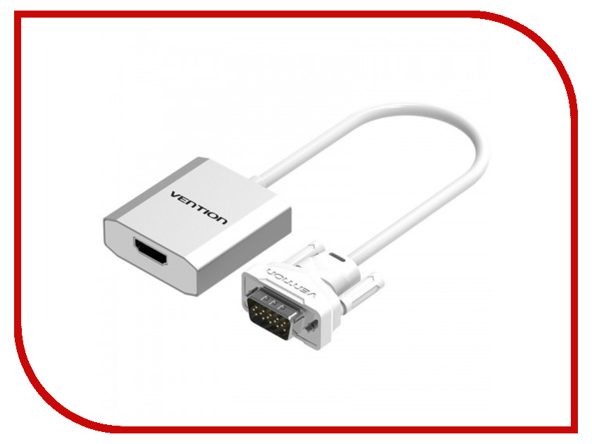 Аксессуар Vention VGA + Audio - HDMI<br>