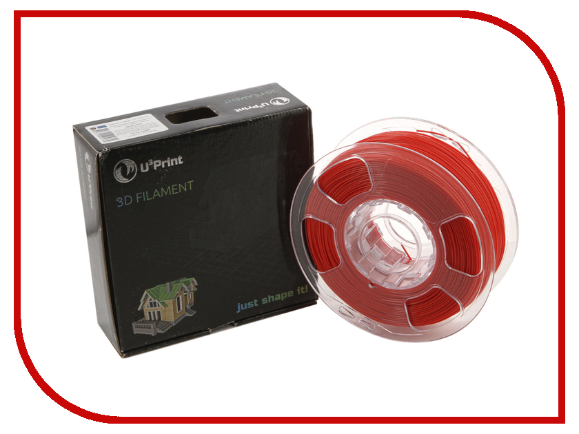 Аксессуар U3Print PLA-пластик 1.75 mm Basic Plus Ruby<br>
