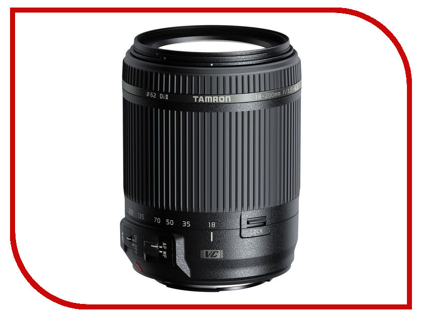 Объектив Tamron Nikon AF 18-200mm F/3.5-6.3 Di II VC профессиональная цифровая slr камера nikon d3200 18 55mmvr