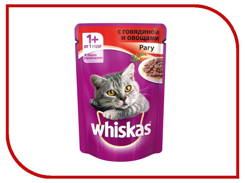 Корм Whiskas Пауч Рагу говядина с овощами 85g для кошек 10155473/10137264