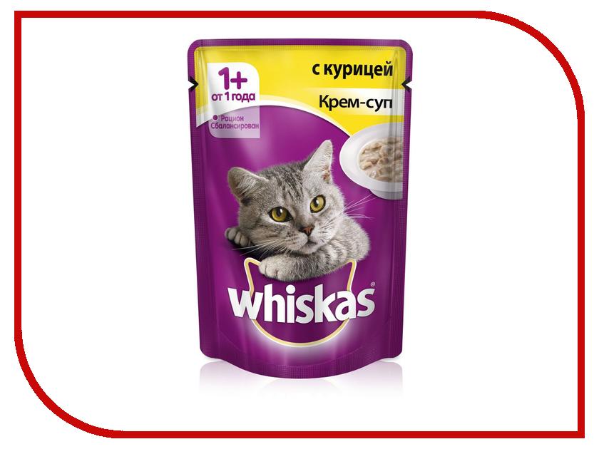 Корм Whiskas Пауч Крем-суп с курицей 85g для кошек 10156265/10151093 whiskas крем суп лосось 85 г