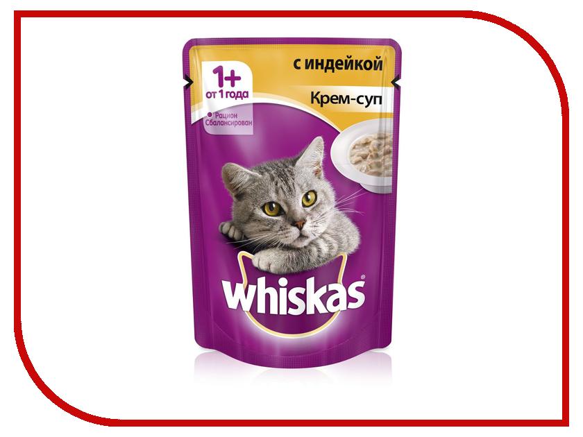 Корм Whiskas Пауч Крем-суп с индейкой 85g для кошек 10156267/10151097