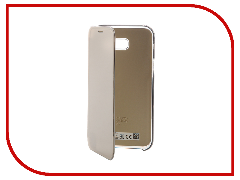 Аксессуар Чехол Samsung Galaxy A7 2017 Clear View Cover Gold EF-ZA720CFEGRU