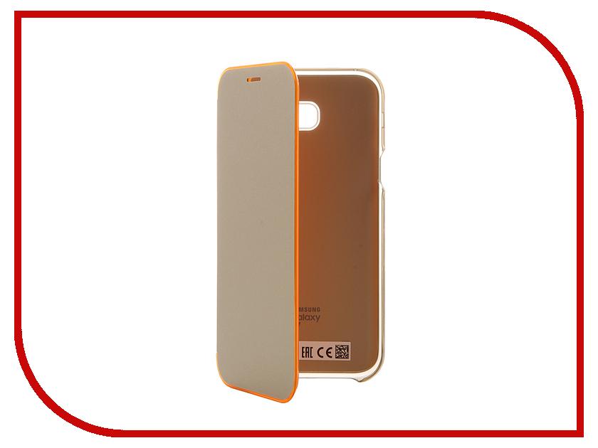 Аксессуар Чехол Samsung Galaxy A7 2017 Neon Flip Cover Gold EF-FA720PFEGRU