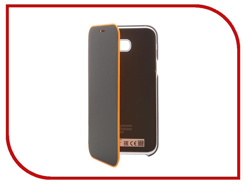 Аксессуар Чехол Samsung Galaxy A7 2017 Neon Flip Cover Black EF-FA720PBEGRU<br>