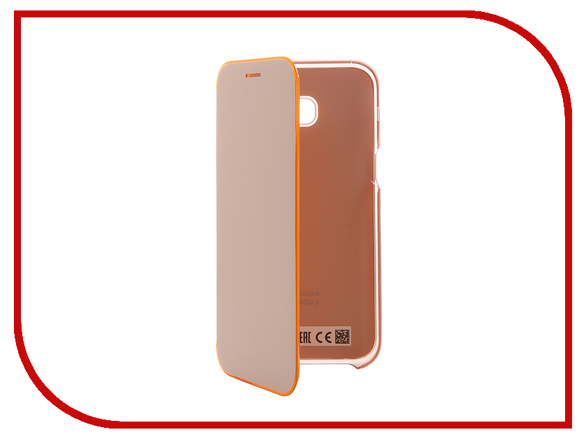 Аксессуар Чехол Samsung Galaxy A5 2017 Neon Flip Cover Pink EF-FA520PPEGRU чехол для samsung galaxy a7 2017 samsung neon flip cover ef fa720plegru blue