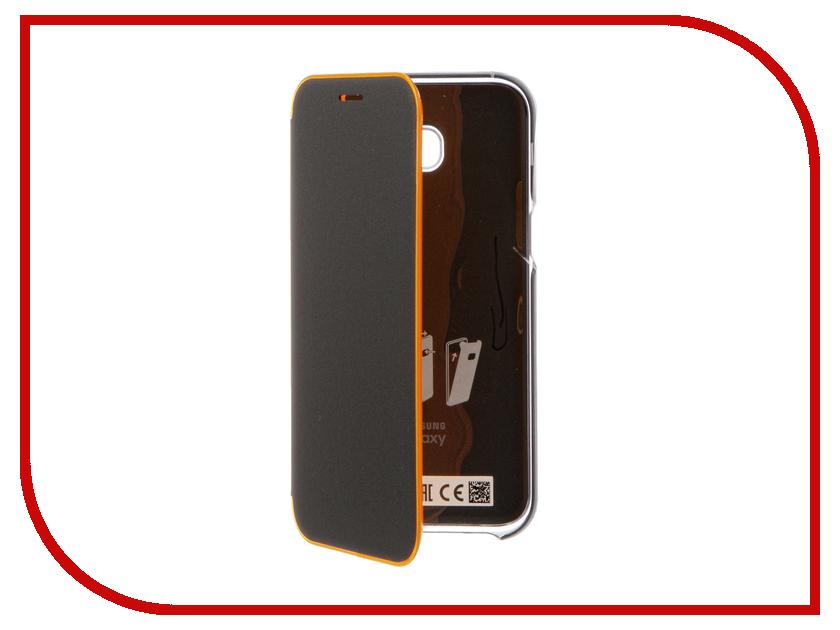 Аксессуар Чехол Samsung Galaxy A5 2017 Neon Flip Cover Black EF-FA520PBEGRU mooncase soft silicone gel side flip pouch hard shell back чехолдля samsung galaxy s6 black