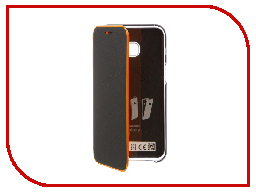 Аксессуар Чехол Samsung Galaxy A3 2017 Neon Flip Cover Black EF-FA320PBEGRU mooncase soft silicone gel side flip pouch hard shell back чехол для samsung galaxy s6 black