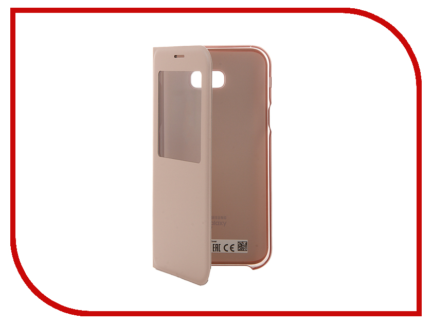 Аксессуар Чехол Samsung Galaxy A7 2017 S View Standing Cover Pink EF-CA720PPEGRU<br>