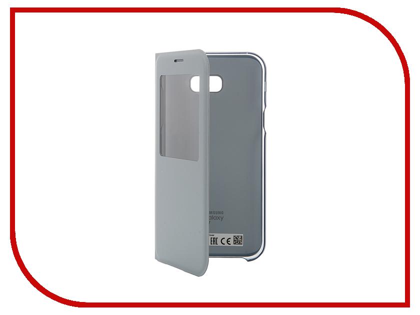 Аксессуар Чехол Samsung Galaxy A7 2017 S View Standing Cover Blue EF-CA720PLEGRU<br>