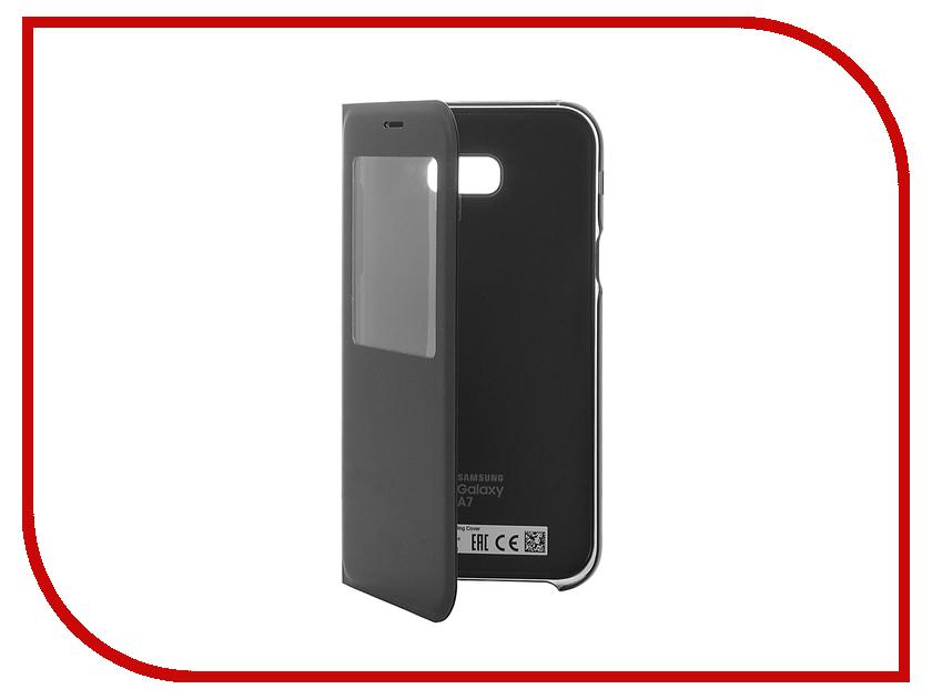 Аксессуар Чехол Samsung Galaxy A7 2017 S View Standing Cover Black EF-CA720PBEGRU кордщетка атака 22218