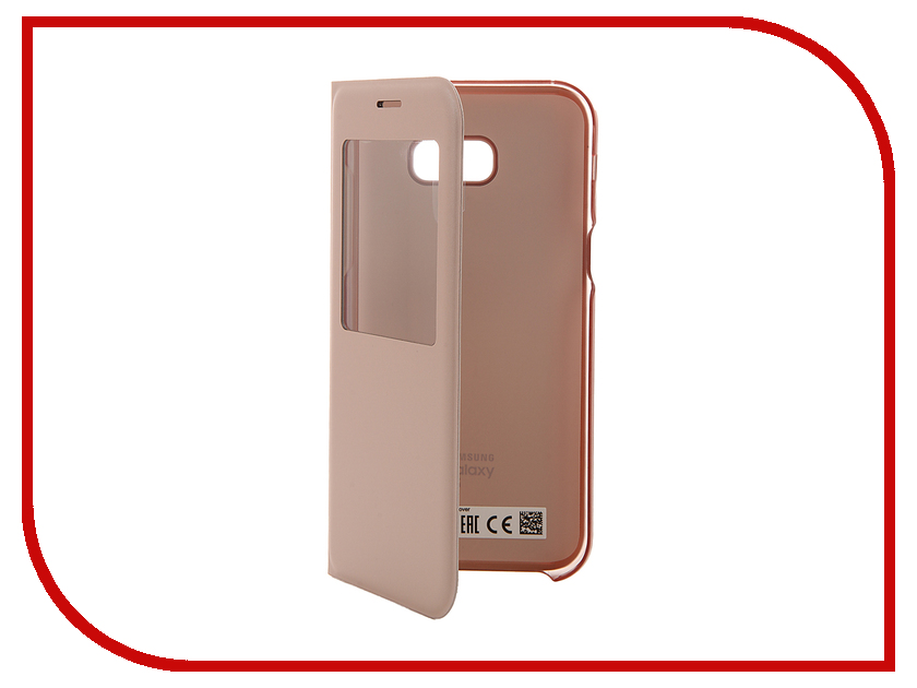 Аксессуар Чехол Samsung S View Standing Cover Galaxy A5 2017 Pink EF-CA520PPEGRU<br>