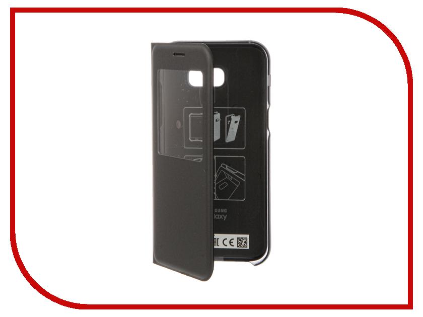 Аксессуар Чехол Samsung S View Standing Cover Galaxy A5 2017 Black EF-CA520PBEGRU телефон xiaomi redmi 4a 16gb золотой
