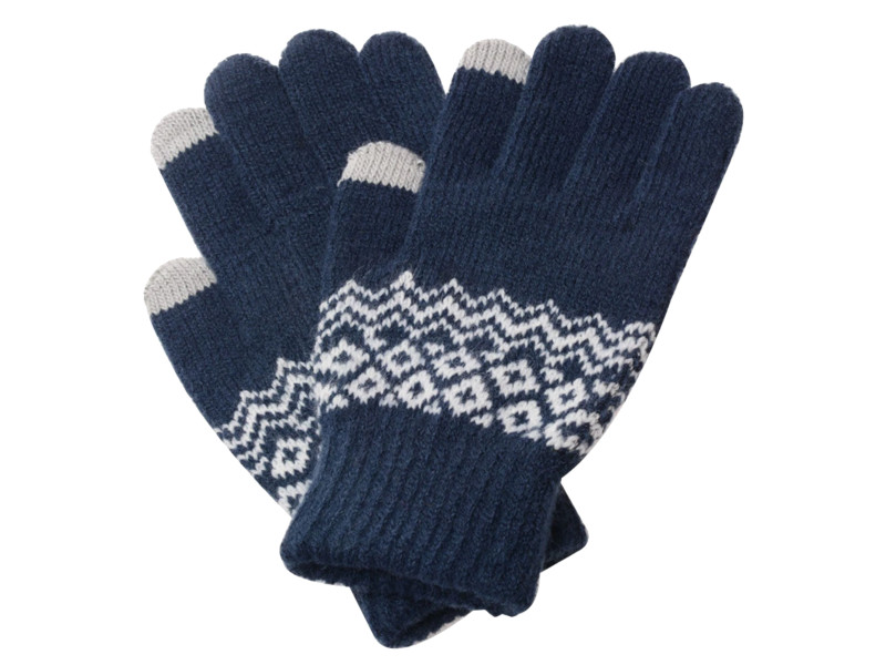 Теплые перчатки для сенсорных дисплеев Xiaomi Mi Wool Screen Touch Gloves Mens р.UNI Blue