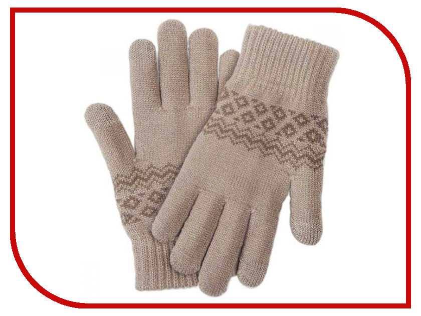 Теплые перчатки для сенсорных дисплеев Xiaomi Mi Wool Screen Touch Gloves Woman р.UNI Beige 3 gang 1 way touch screen wall switch for lamp touch switch white uk standard