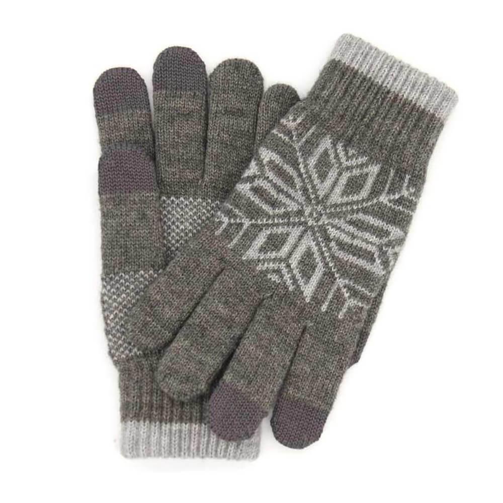 Теплые перчатки для сенсорных дисплеев Xiaomi Mi Wool Screen Touch Gloves Mens р.UNI Grey