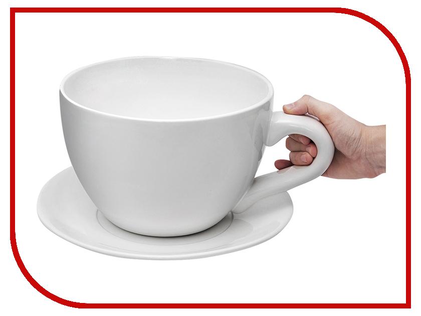 Чашка с блюдцем Эврика Гигант 89016 remember чашка для эспрессо с блюдцем black lines
