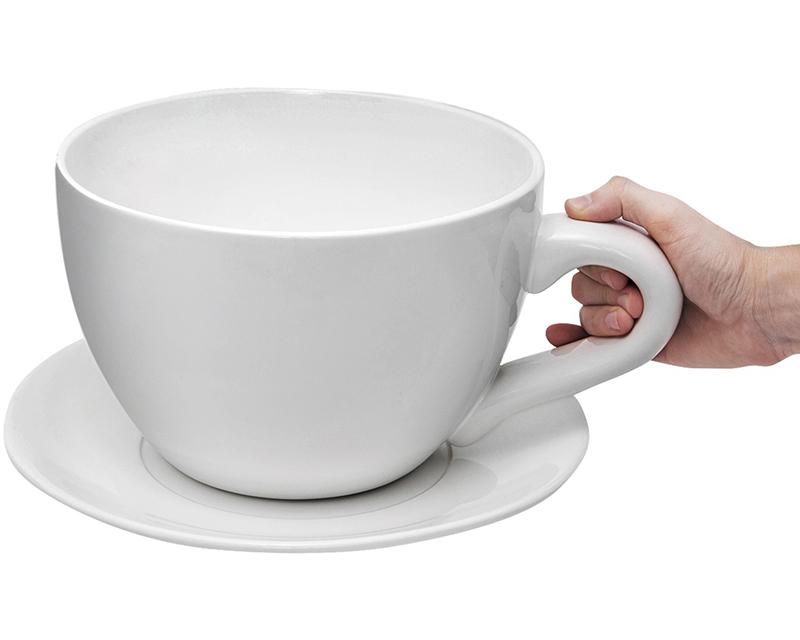 Чашка с блюдцем Эврика Гигант 89016