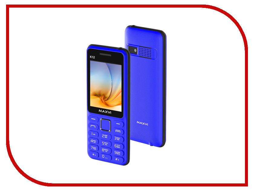 Сотовый телефон Maxvi K12 Blue-Black сотовый телефон maxvi c20 blue