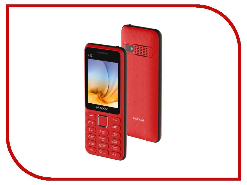 Сотовый телефон Maxvi K12 Red-Black сотовый телефон maxvi c20 black
