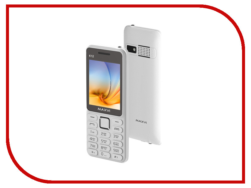 Сотовый телефон Maxvi K12 White<br>