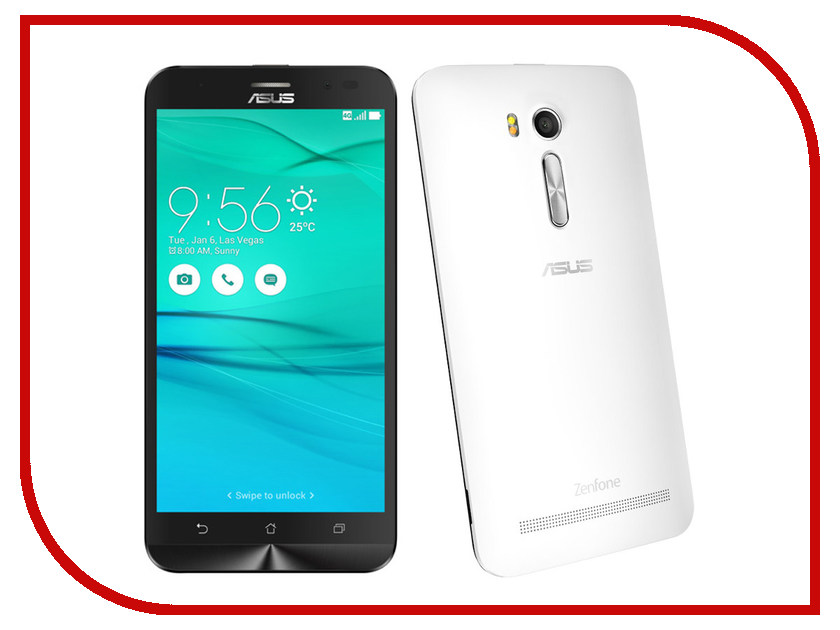 Сотовый телефон ASUS ZenFone Go ZB552KL 16Gb White сотовый телефон elari cardphone white