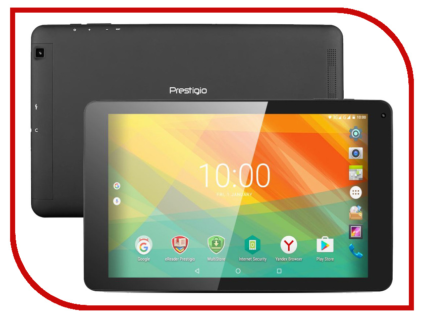 Планшет Prestigio MultiPad Wize 3131 Black PMT3131_3G_D_CIS (MediaTek MTK8321 1.3 GHz/1024Mb/16Gb/3G/Wi-Fi/Cam/10.1/1280x800/Android) планшет prestigio grace 3101 4g black pmt3101 4g d cis mediatek mtk8735 1 0 ghz 2048mb 16gb wi fi 3g bluetooth cam 10 1 1280x800 android