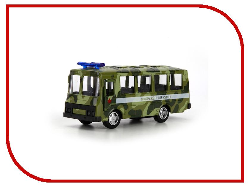 Машина Технопарк Автобус ПАЗ военный X600-H09137-R технопарк автобус инерционный вооруженные силы паз 3206