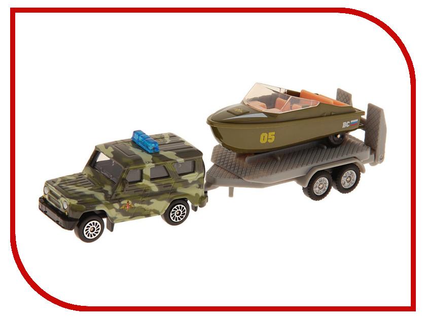 Игрушка Технопарк УАЗ с лодкой на прицепе SB-16-35-M-WB<br>