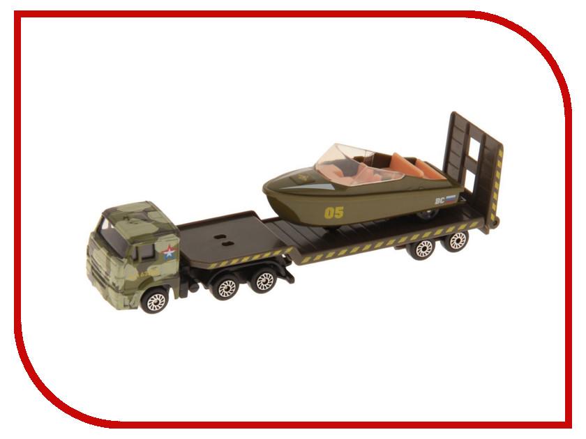 Машина Технопарк КАМАЗ транспортер военный с лодкой SB-16-30-M камаз транспортер с доп машинкой